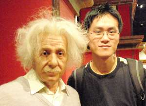 With Einstein in Hong Kong, 2008.