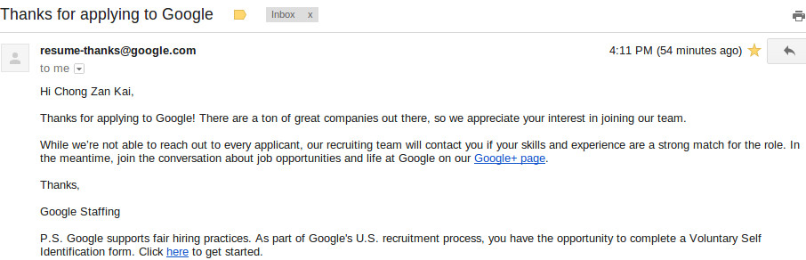 how to apply for a google internship